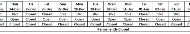 Casas Espania Offices Opening times Christmas 2020