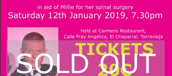 Millie - we´ve got your back - the Complete auction lot list