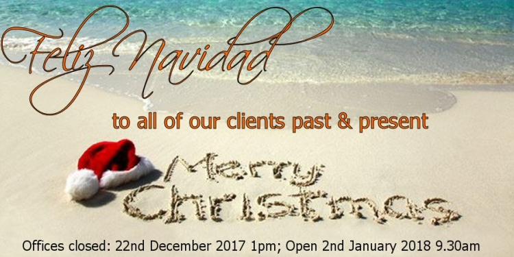 Christmas 2017 Office Opening Hours
